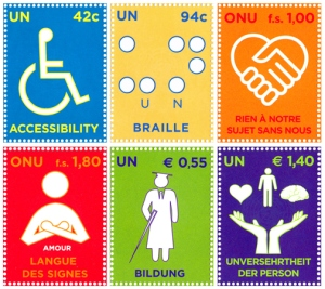 A set of stamps celebrating the Convention on the Rights of Persons with Disabilities